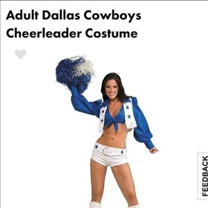 Dallis Cowboys cheerleader costume Size small